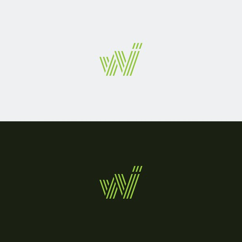 Letter logo with the title 'Clean Logo for a Financial Website'