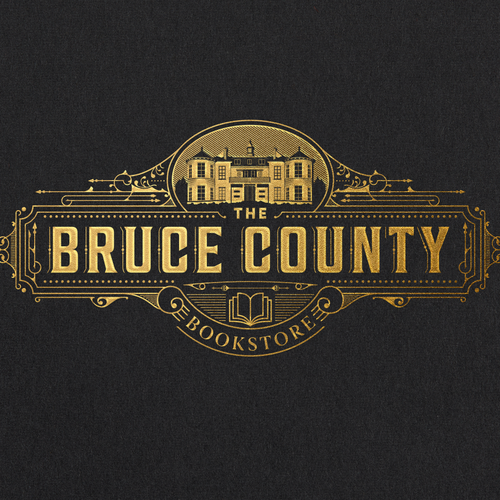 Bookstore logo with the title 'THE BRUCE COUNTY'