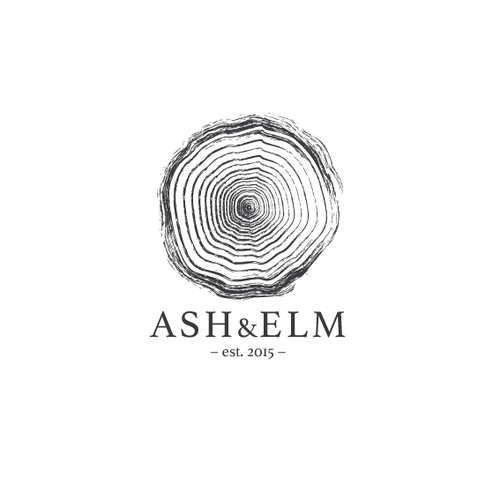 Timber logo with the title 'Ash & Elm logo'