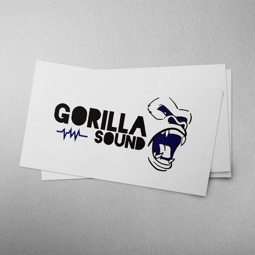 Gorilla brand with the title 'Logo for Sound Production company.'