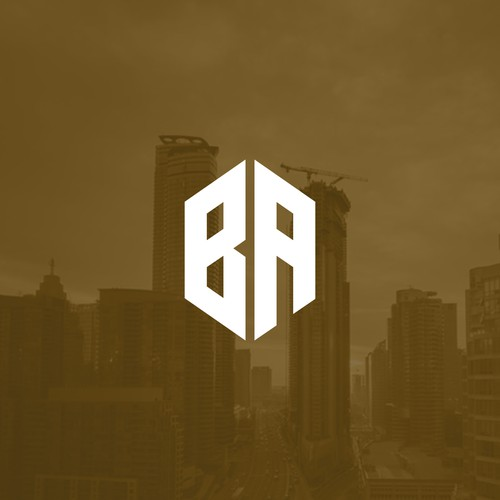 Real estate brand with the title 'BA - Modern Monogram'