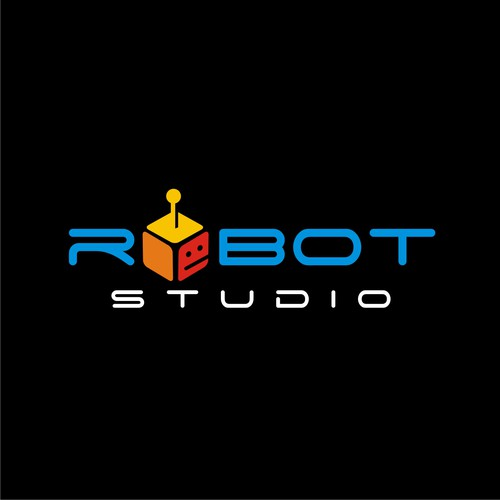 Robotics logo with the title 'Modern Style for Robot Studio Logo'