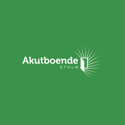 Service brand with the title 'Logo for Akutboende STHLM'