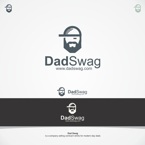 Mustache design with the title 'Logo concept for clothing site '