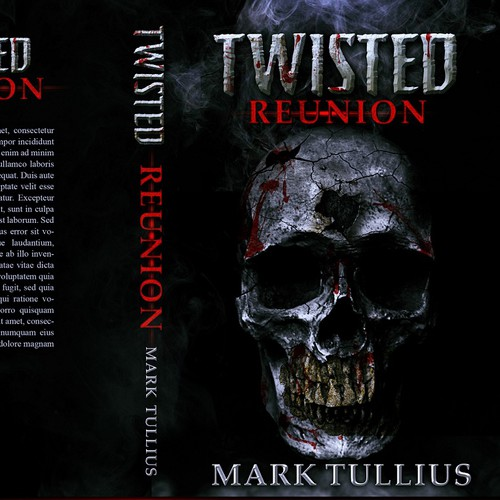 Horror design with the title 'Twisted reunion'