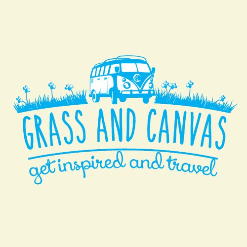 Van logo with the title 'Grass and Canvas'