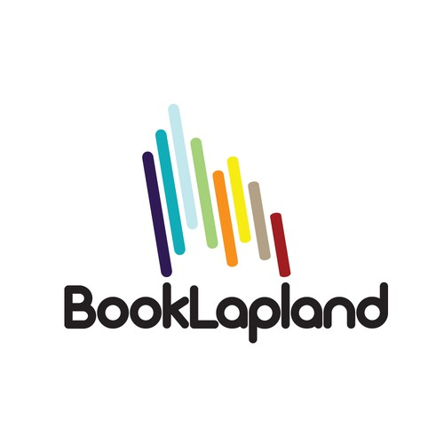 Northern Lights logo with the title 'Logo design for a travel company named BookLapland'