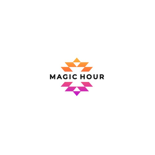 Triangle logo with the title 'Logo for Magic Hour'