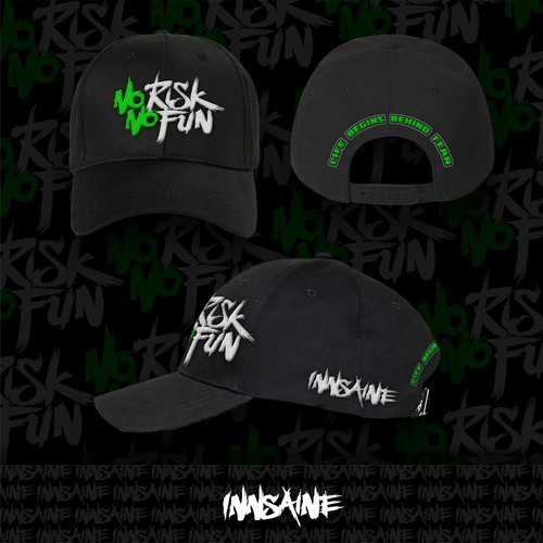 Aggressive design with the title 'Extreme Sports Hat Design'