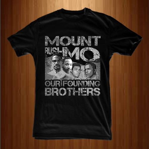 Men's t-shirt with the title 'Mount Rushmo'