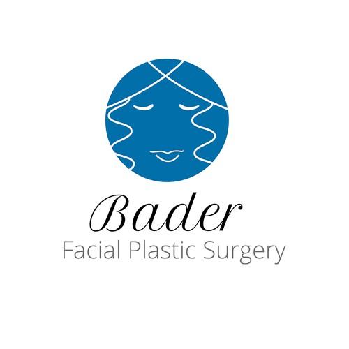 Surgery logo with the title 'bader facial surgery logo'