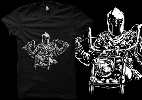 Cool t-shirt with the title 'Spartan Rider artwork'
