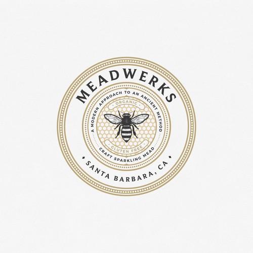 California logo with the title 'Logo concept for Meadwerks Santa Barbara California'