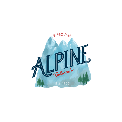Alpine logo with the title 'Lettering logo '