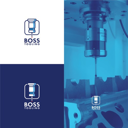 Steel logo with the title 'Logo for Boss Tooling'