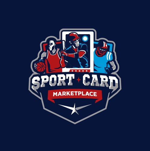 Baseball logo with the title 'Sport Card Marketplace'