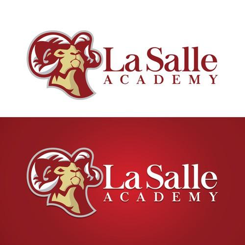 Distinctive design with the title 'High School Mascot Logo'