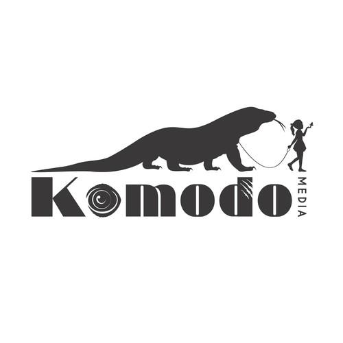 Reptile design with the title 'Komodo Media '