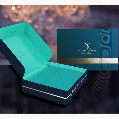 Special design with the title 'High end Skin Care box design'