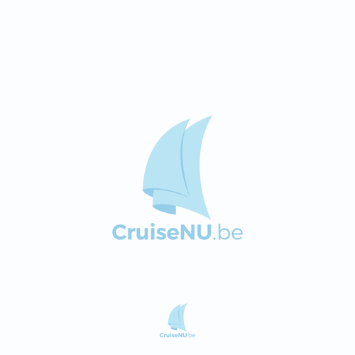 Cruise ship logo with the title 'Logo Concept for CruiseNU.be'