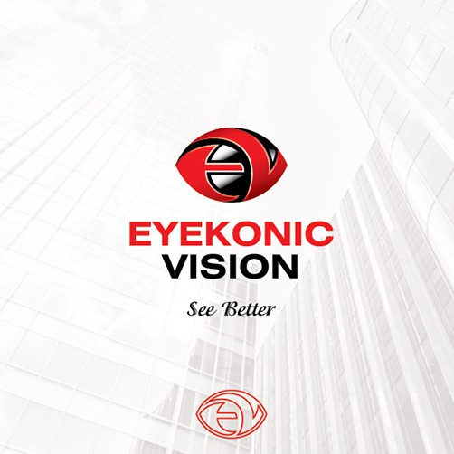 Optometry design with the title 'EyeKonic Vision'