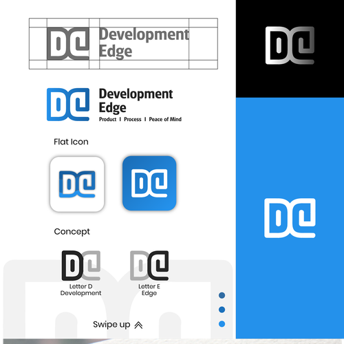 Presentation logo with the title 'Design Concept for Development Edge'