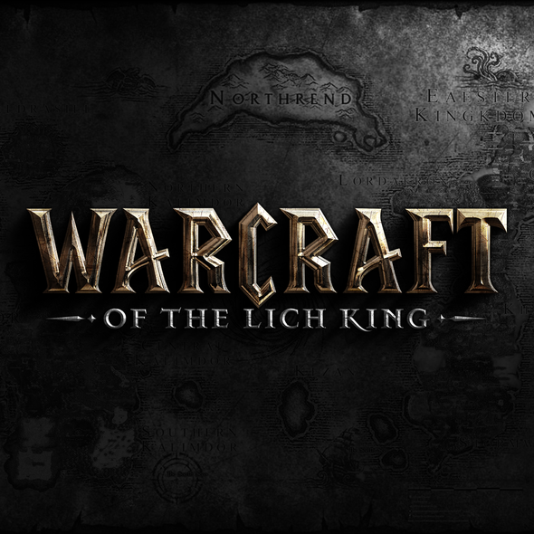 TV show design with the title 'Logo design for Warcraft Of The Lich King'