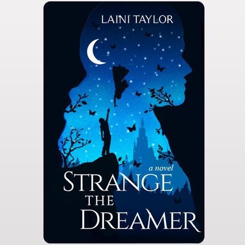 Novel design with the title 'Strange The Dreamer'