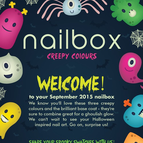 Spooky design with the title 'Nailbox Halloween Flyer'