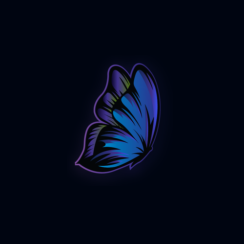 Glow logo with the title 'abstract butterfly logo'