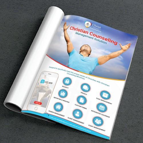 Magazine ad design with the title 'Magazine advertisement'