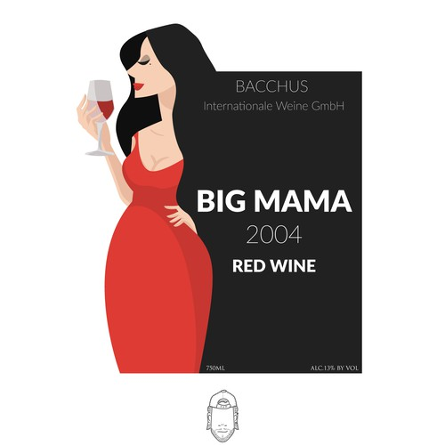 Sexy illustration with the title 'Big Mama'