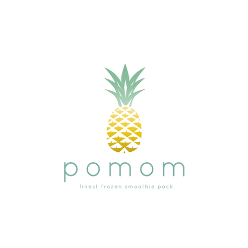 Healthy food logo with the title 'Logo design for POMOM'