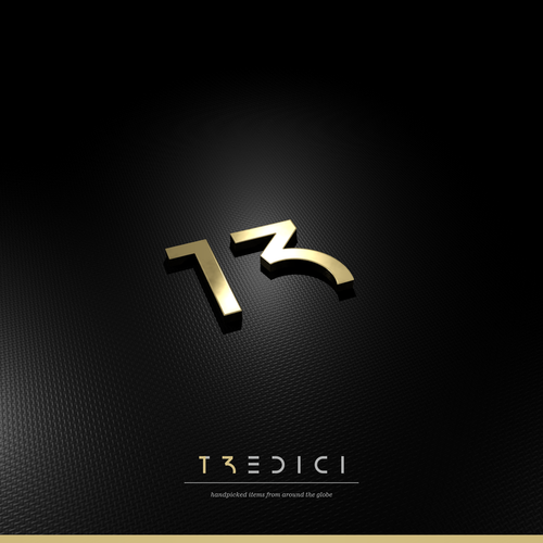 Retail design with the title 'Luxury store Tredici'