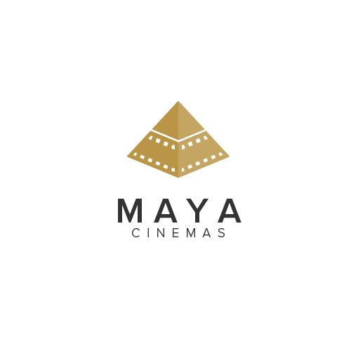 Gold crown logo with the title 'Maya Cinemas'