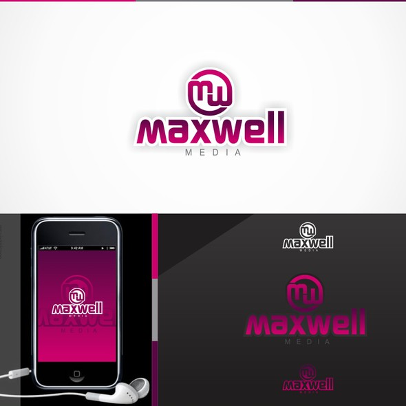 Media agency logo with the title 'Maxwell Media needs a new logo'