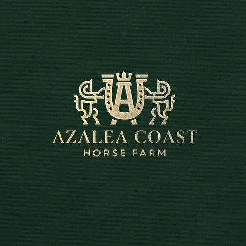Family crest design with the title 'VINTAGE HORSE HERITAGE LOGO'