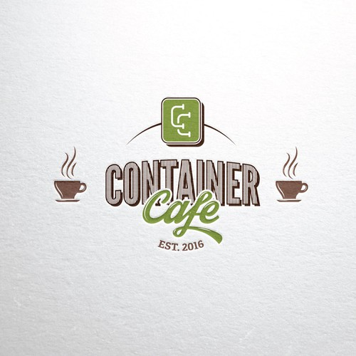 Container design with the title 'Container Cafe'