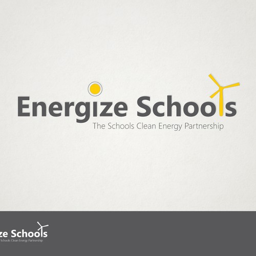 Green energy design with the title 'Logo for ReEnergize Schools'