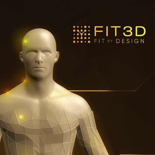3D artwork with the title '3D Design FIT3D Human Muscle Body'