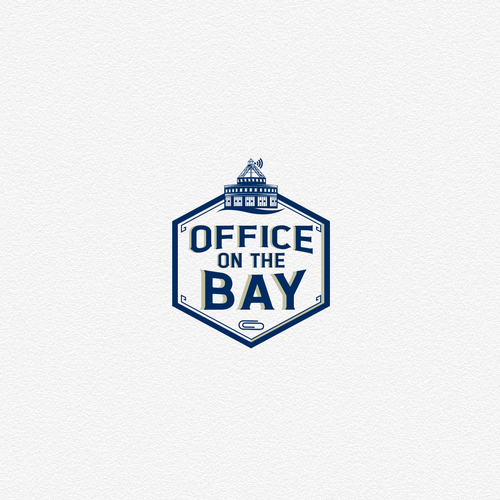 Admin logo with the title 'Office on the Bay Logo Design'