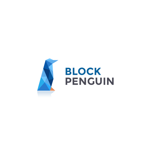 Ice logo with the title 'Penguin logo'