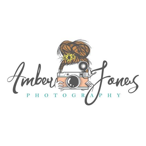 Camera logo with the title 'Modern-Vintage Photography Logo'