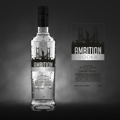 Modern label design for Ambition vodka