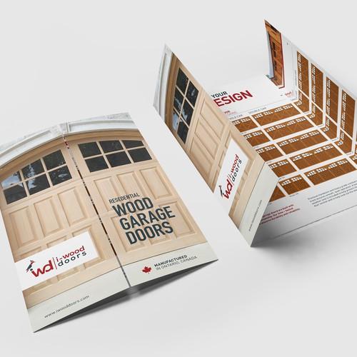 Manufacturing design with the title 'i-Wood GateFold Brochure Design'