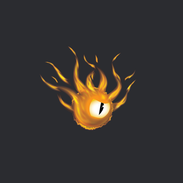 Flaming logo with the title 'Behodler on fire!'