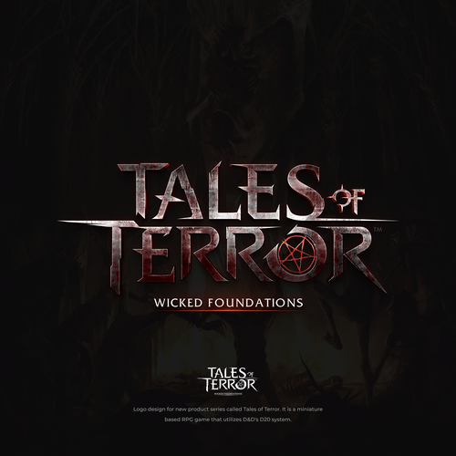 Story design with the title 'Tales of Terror - RPG Game Logo'
