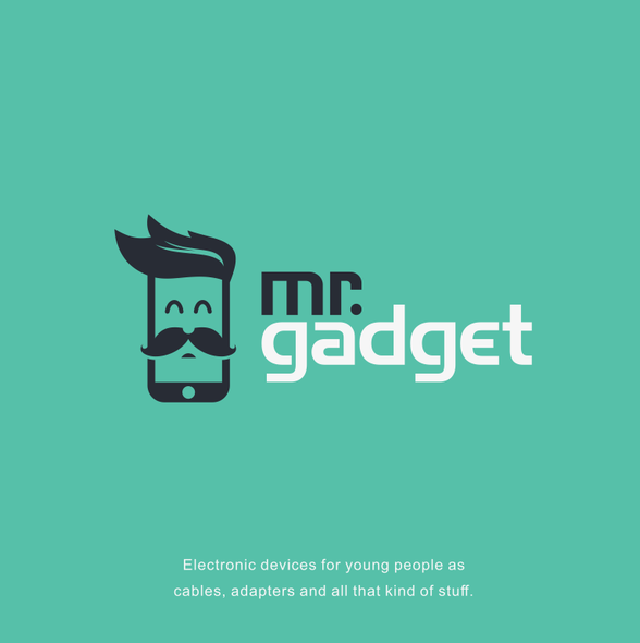 Gadget design with the title 'Design a hipster logo for electronic accesories for Mr. Gadget'