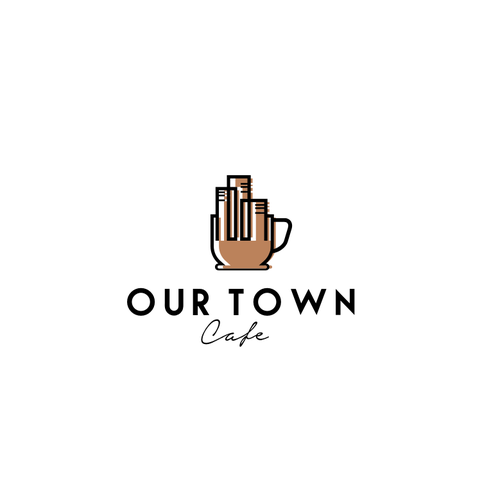 Town logo with the title 'Our Town'
