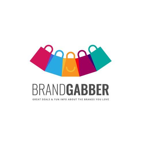 Shop logo with the title 'BrandGabber logo design'